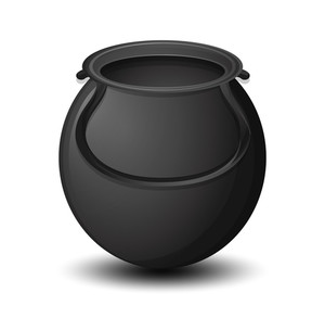 Black Vector Cauldron Shape