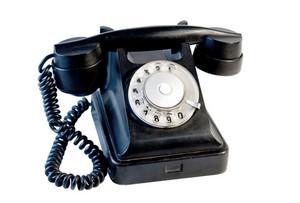 Black Vintage Phone Isolated On White