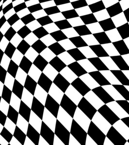Black White  Checkered Plane