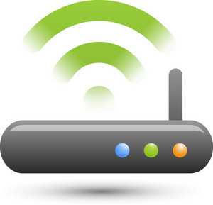 Black Wifi Router Lite Communication Icon
