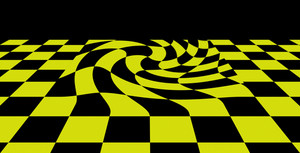 Black Yellow   Checkered Plane