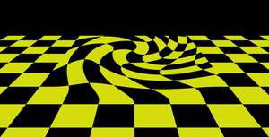 Black Yellow   Checkered Plane