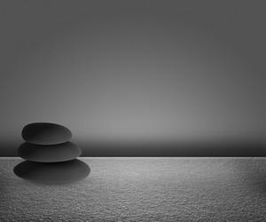 Black Zen Stones Background