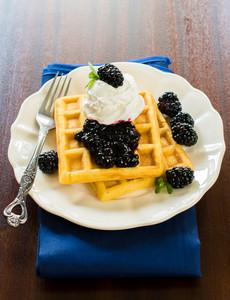 Blackberries On Waffles