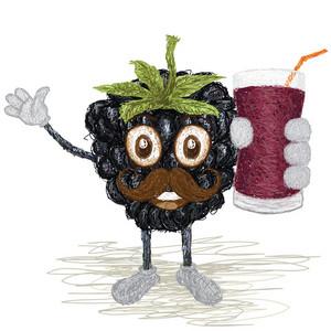 Blackberry Fruit Mustache