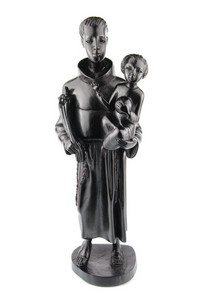 Blackwood Statue Of Saint Anthony And Jesus