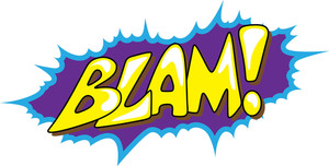 Blam - Comic Expression Vector Text