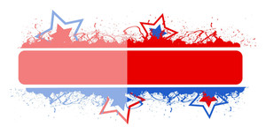 Blank Banner 4th Of July Vector Theme Design