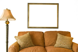 Blank Frame and Sofa