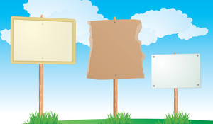 Blank Information Boards. Vector.
