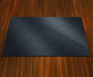 Blank Metal Plate On Table