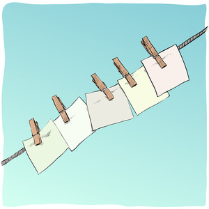 Blank On The Rope. Vector Illustration