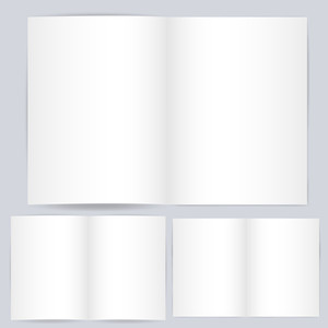 Blank Open Card Or Book Template Vector