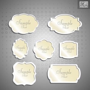 Blank Paper Text Bubbles Or Notes.