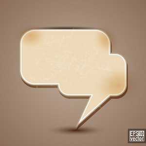 Blank Paper Text Speech Bubbles Or Notes.