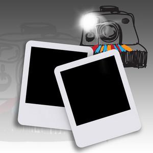 Blank Photo And Hand Drawn Camera