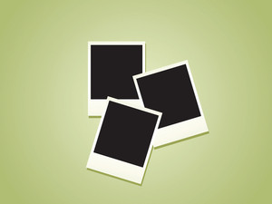 Blank Polaroid Photos Vector Illustration