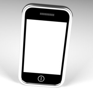 Blank Smartphone Screen With White Copyspace And White Background