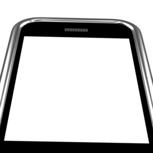 Blank Smartphone Screen With White Copyspace
