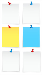 Blank Sticky Notes Vectors