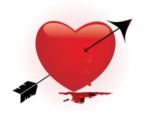 Bleeding Heart Pierced By An Arrow
