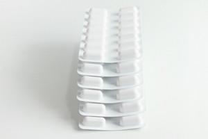 Blister Stack Packs Of White Pills