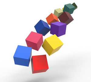 Blocks Falling Showing Action And Solutions