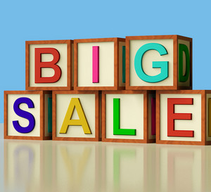 Blocks Spelling Big Sale As Symbol For Discounts And Promotions