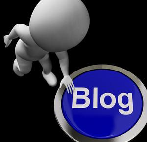 Blog Button For Blogger Or Blogging Web Sites