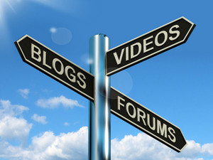 Blogs Videos Forums Signpost Showing Online Social Media