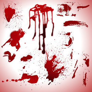 Blood Drops And Stains Vectors