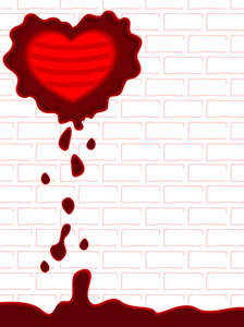 Blood Drops On The Wall. Vector Illuctration.