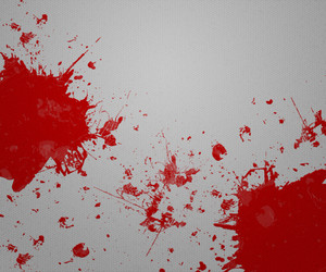 Blood On Gray Paper