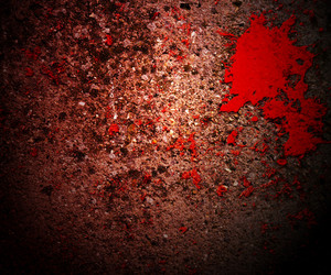 Blood On Grunge Texture