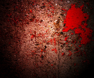 Blood On Grunge Wall Crime Background