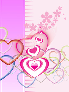 Bloom Background With Colorful Heart
