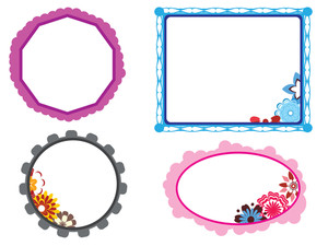Bloom Pattern Kids Frames