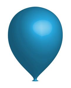 Blue 3d Balloon