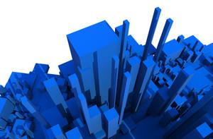 Blue 3d Blocks