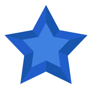 Blue 3d Star Vector