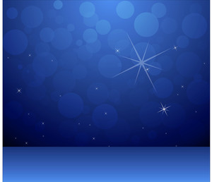 Blue Abstract Background - Christmas Vector Illustration