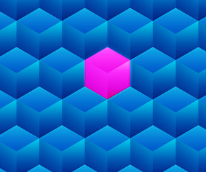 Blue Abstract Cubes Background Texture