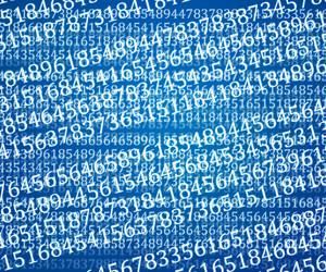 Blue Abstract Numbers Background Texture