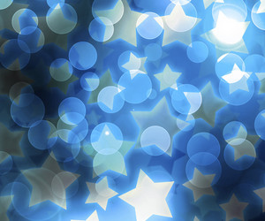 Blue Abstract Stars Background