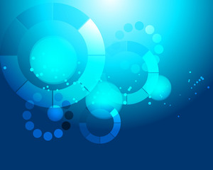 Blue Abstract Tech Background Vector