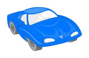 Blue Ancient Modern Sports Car