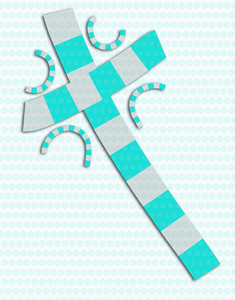 Blue And Gray Abstract Cross Collage