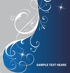 Blue And Gray Background With Creative Ornament
