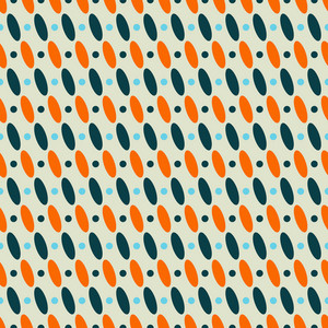 Blue And Orange Ovals Pattern