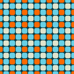 Blue And Orange Squares Pattern
